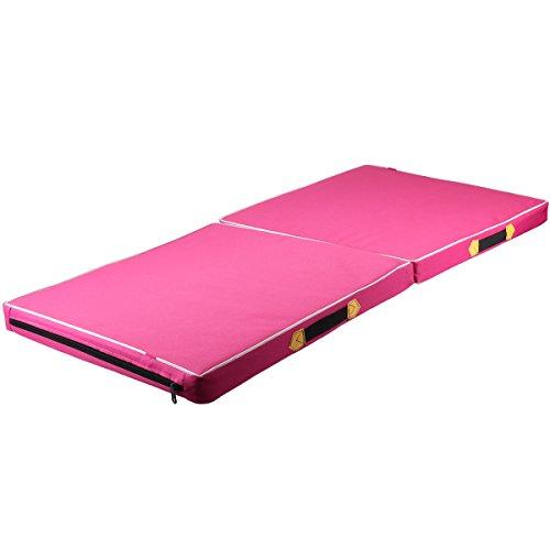 WINOMO - Alfombrilla de Gimnasia para Ejercicio, Yoga, Pilates, Fitness, 100 x 50 x 5 cm, Color Rosa