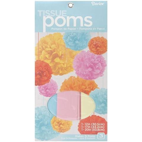 Kit di POM-POM di tessuto rende 3-Baby Multicolor