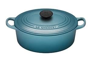 le creuset cocotte ovale en fonte turquoise 29 cm amazon. Black Bedroom Furniture Sets. Home Design Ideas