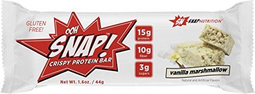 High-protein-mahlzeit-ersatz-shakes (Snap Nutrition OHH SNAP! Crispy Protein Bar Riegel Eiweißriegel Proteinriegel Eiweiß Protein Fitness Bodybuilding á 41g (7x Vanilla Marshmellow))