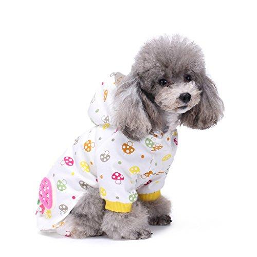 s-lifeeling Hund Kostüme Outfit farbigen Mushroom Muster Komfortable Puppy Schlafanzug Weiche Hund Jumpsuit Shirt Best Geschenk 100% Baumwolle Mantel für kleine und mittlere Hunde