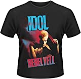 Plastic Head Men's Billy Idol Rebel Yell Cover Banded Collar Short Sleeve T-Shirt