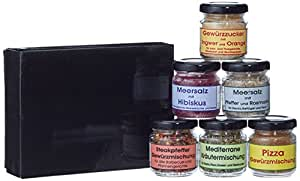 Exklusives Gourmetset mit 6 Gewürz-Spezialitäten in der Geschenkbox von Finca Marina