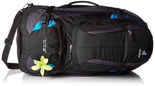 Deuter Traveller + 10 SL Mochila de Viaje, Mujer, Negro (Black / Turquoise), 60 l
