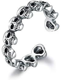 e6fc08da0 SNORSO 925 Sterling Silver Adjustable Stacking Midi Halloween Ghost Skull  Ring