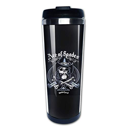 Wasserflasche Cup Travel Mug Kaffeebecher, Coffee Cups Ace of Spades Coffee Cup Stainless Steel Coffee Mugs Water Drink Bottle for Adults Kids
