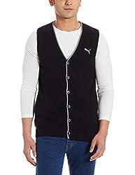 Puma Mens Wool Cardigan (4055263493645_83590002_Small_Black)