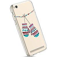 YSIMEE para Fundas Xiaomi Redmi 5A Estuches,Fundas Transparente Silicona Goma Suave Ultra Fina Delgado Gel Bumper TPU Goma Protectora Carcasas para Xiaomi Redmi 5A -Guantes de navidad