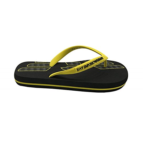 Emporio Armani Infradito EA7 Art: 905003 8P295 (IT 41, Black/Yellow)