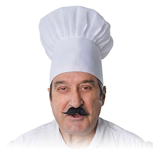 White CHEFS HAT MASTER CHEF FANCY DRESS (gorro/sombrero)