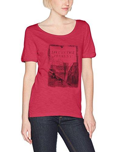 s.Oliver Damen Regular Fit T-Shirt KURZARM 14704323804, Einfarbig, Gr. 42, Rosa (Precious Pink Placed Pr. 46D0)