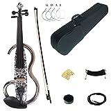 Kinglos 4/4 Farbige Massivholz Fortgeschritten Metall Elektro/Still Geige Ausrüstung mit Ebenholz Ausstattung in Voller Größe