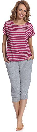 Merry Style Damen Schlafanzug MS540 Grau/Amaranth