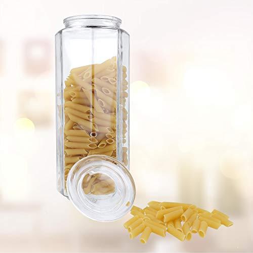Lantelme 7944 - barattolo in vetro con coperchio, capacità 1800 ml