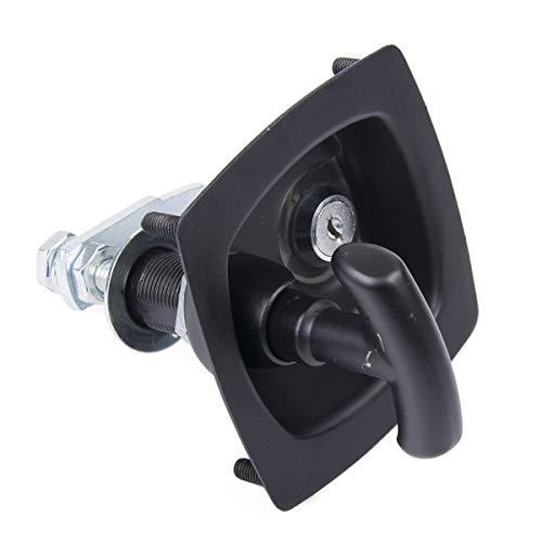 Vosarea Tool Latch Edelstahl Klapp T-Form Griff Lock Tool Box Anhänger für PKW LKW Trailer Camp - Lkw Tool-box Für