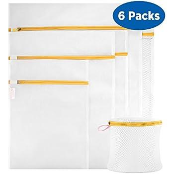 Ecooe Wäschenetz 6 Stück Wäschesack PremiumWäschetasche Wäschebeutel für Waschmaschine Orange