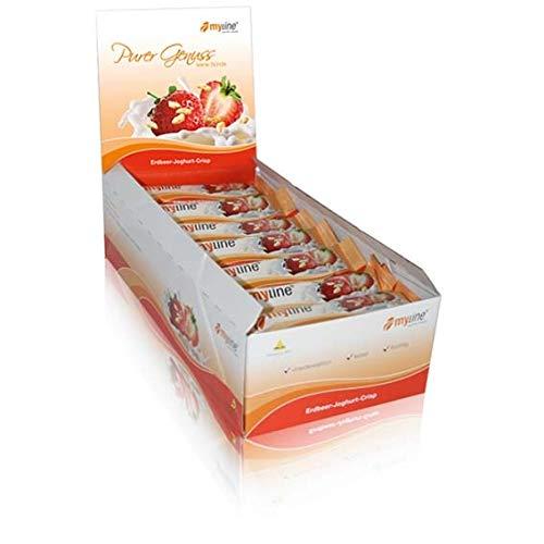 myline Riegelbox Erdbeer-Joghurt-Crisp, 24 x 40g