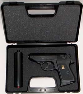 Wicke Walther PPK Amorcespistole mit Schalldämpfer im Koffer