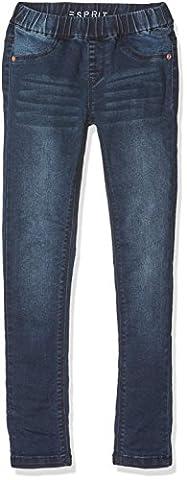 ESPRIT Mädchen Regular Fit Hose RJ23123, Einfarbig, Gr. 128, Blau (stoned Denim 475)