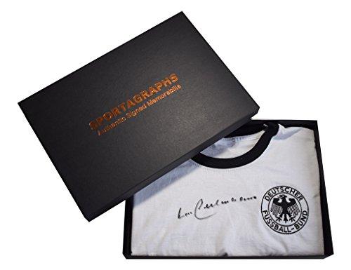 Sportagraphs-Franz-Beckenbauer-SIGNED-1974-Germany-Retro-Shirt-Autograph-1974-Gift-Box-COA-PERFECT-GIFT