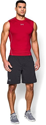 Under Armour UA Heatgear, Canottiera a Compressione Uomo Rosso (Red/Steel)