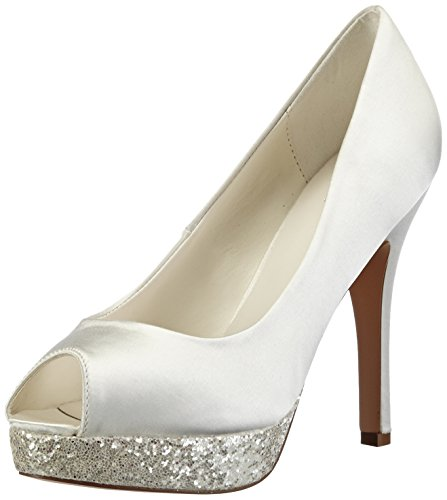 Menbur Wedding Aitana, Decolleté open toe donna, Avorio (Elfenbein (Ivory 04)), 38