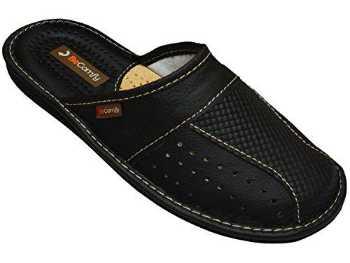 herren-hausschuhe-leder-pantoffeln-schwarz-geschenkkarton-wahlweise-modell-mz02-43-box
