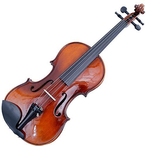 JACSON Naturgeige in Originalgröße Geige bastelt Geige mit Muschelschalldämpfer Bogen Saite 4 Saiten Instrument,1/10