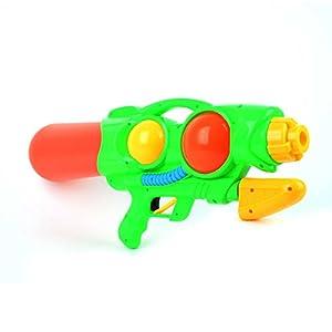 Pistola de agua de cañón grande estilo bomba, pistola de agua verde, pistola de agua para verano al aire libre, juguete divertido