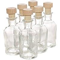 Bottigliette in stile italiano da 50ml con tappo in sughero