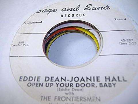 EDDIE DEAN-JOANIE HALL 45 RPM Open Up Your Door, Baby / Sign On The Door