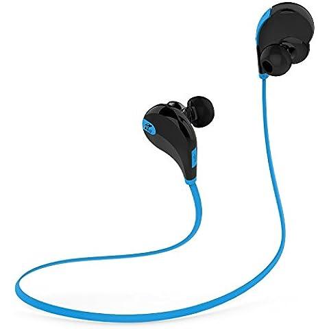 SoundPEATS Auriculares Bluetooth In-Ear cascos inalambrico, resistente al agua y sudor , con Tecnología aptX Avanzada para iPhone, iPad, Samsung, PC y otros Teléfonos Inteligentes (Negro / Azul)