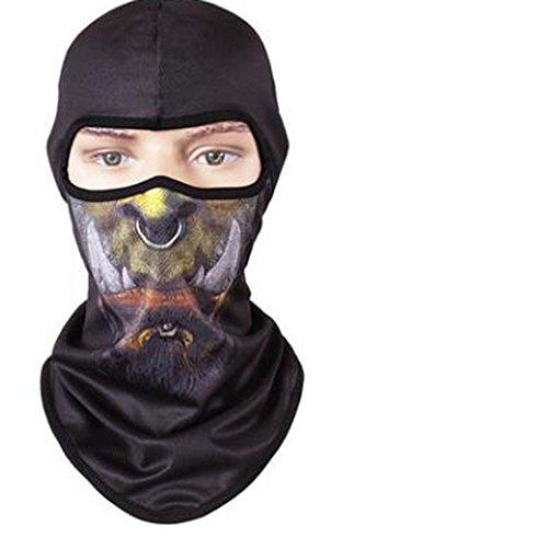 VFDMNSVDSFD Tier Maske trocken atmungsaktive Maske Persönlichkeit outdoor Sun cs Tier Maske Hut maskiert, Warcraft Mann (World Of Warcraft-masken)