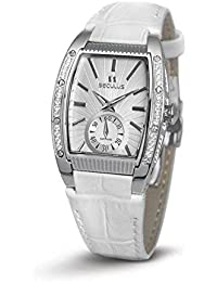 SECULUS WOMEN'S DESIGN WHITE LEATHER BAND QUARTZ WATCH 1667.2.1069 LW SSST W