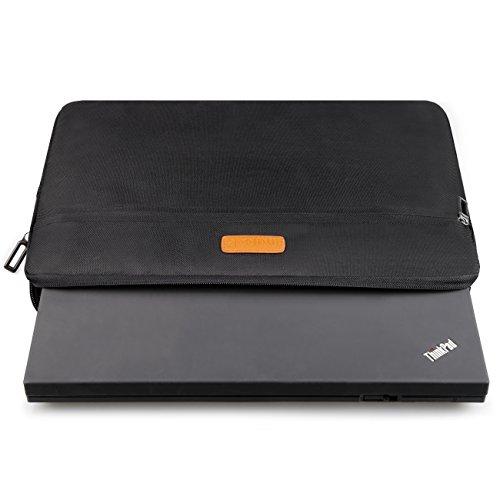 Inateck Hlle Sleeve Tasche fr 358 cm 14 Zoll Laptop Notebook Ultrabook Netbook und neue 2016 MacBook Pro 15 Zoll mit reach Bar Schwarz Hllen