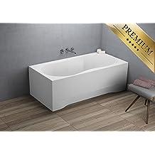 EXCLUSIVE LINE Rechteck Badewanne Acryl DESIGN 170x70 cm mit Schürze Füßen und Ablaufgarnitur GRATIS