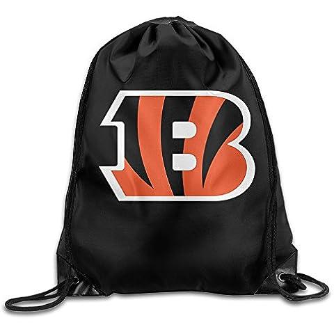 Canace Cincinnati Bengals deportes al aire libre cordón bolsas mochila, Blanco, talla única