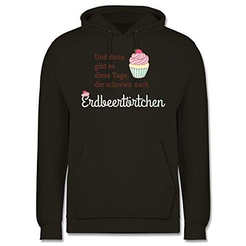Statement Shirts - Und dann gibt es diese Tage, die schreien nach Erdbeertörtchen - Männer Premium Kapuzenpullover / Hoodie Olivgrün