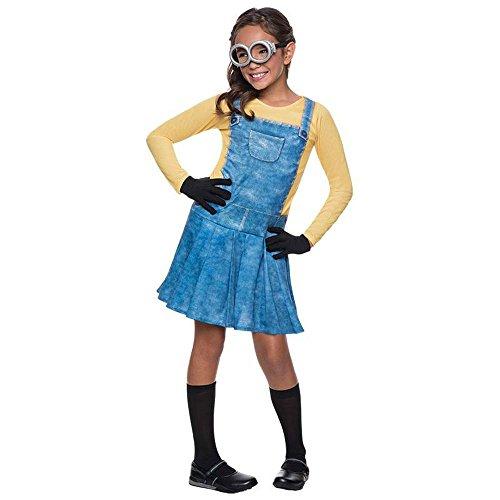 Unbekannt Minions Kinder Kostüm Minion Mädchen Karneval Fasching Gr.3 bis 4 J. (Halloween Minion Kostüm Für Kinder)