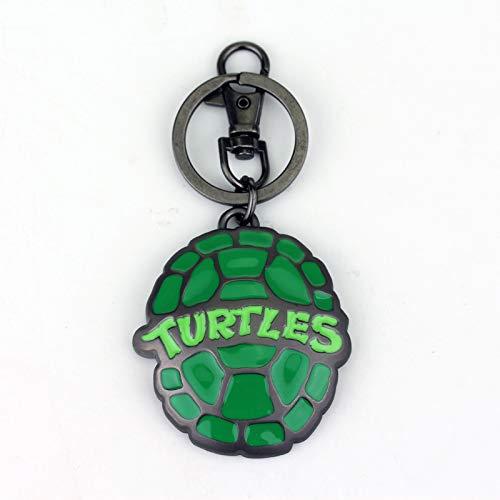 VAWAA Teenage Mutant Ninja Turtles Metall Schlüsselanhänger Schildkröte Shell Schlüsselanhänger Schlüsselanhänger Für Frauen Männer Tasche Auto