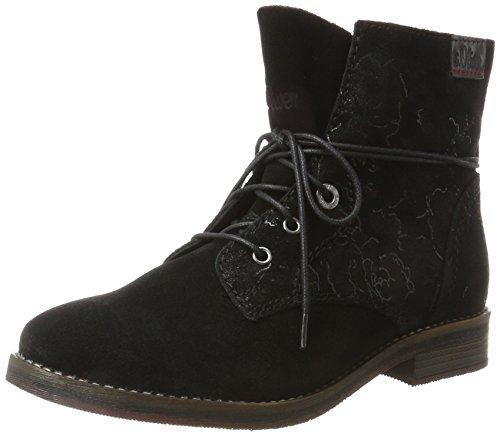 s.Oliver Damen 25243 Chukka Boots, Schwarz (Black Flower), 40 EU (Leder Schwarz Chukka)