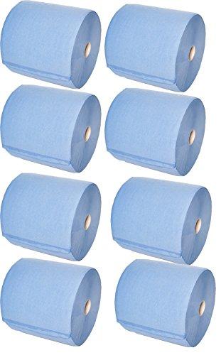 Angebotspack - 8er-Pack Putztuchrollen MINI 2-lagig blau 21x38cm 100% Zellstoff, ca. 500 Abrisse