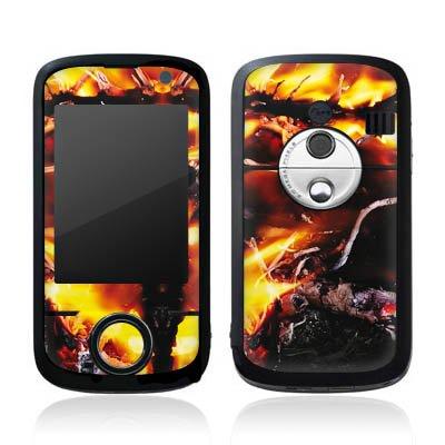 O2 XDA Orbit 2 Case Skin Sticker aus Vinyl-Folie Aufkleber Feuer Dämon Armageddon