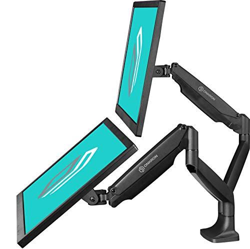 """ONKRON Dual Monitor Tischhalterung für 13"""" - 32"""" Zoll LED LCD Bildschirmen G200-BLK"""