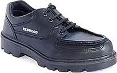 Redwood LH628 Work Safety Footwear Black Mens Leather Shoes -UK 12 - Euro 47