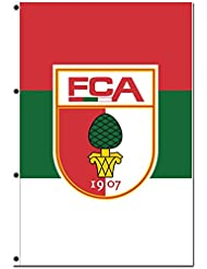 Hissflagge FC Augsburg Hochformat - 150 x 220 cm + gratis Aufkleber, Flaggenfritze®