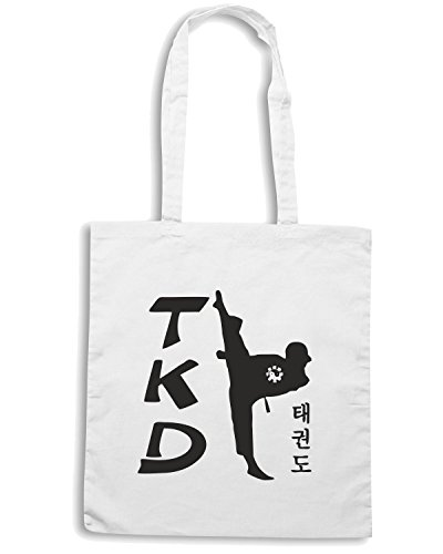T-Shirtshock - Borsa Shopping TAM0169 tae kwon do ii light tshirt Bianco