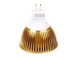 EASYLIGHT 3W 3-MR16-Bridgelux-LED 220LM 6500K Cold White Spot Lamp (Golden)
