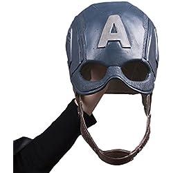nihiug Capitán América Capitán Máscara Americana Máscara De Halloween Cos Hallazgos,LatexMask-OneSize