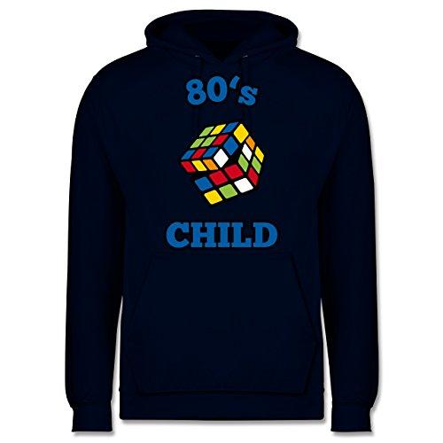 Statement Shirts - 80's Child - Zauberwürfel - L - Dunkelblau - JH001 - Männer Premium Kapuzenpullover / Hoodie